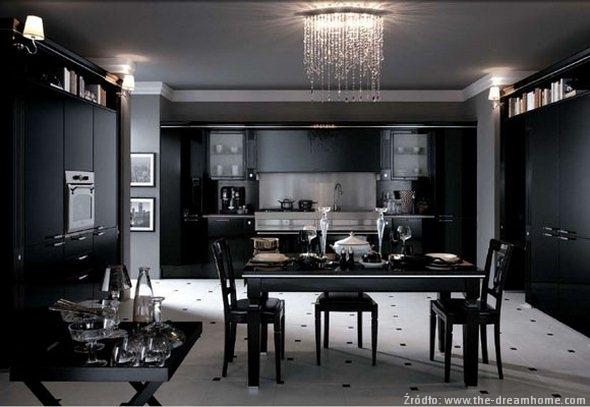 Styl glamour w aranżacjach kuchennych  nowoczesne kuchnie  projekty, forum   -> Kuchnia W Stylu Glamour Galeria