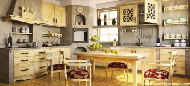 Rustykalne meble kuchenne  sposób na przytulne wnętrze!  nowoczesne kuchnie