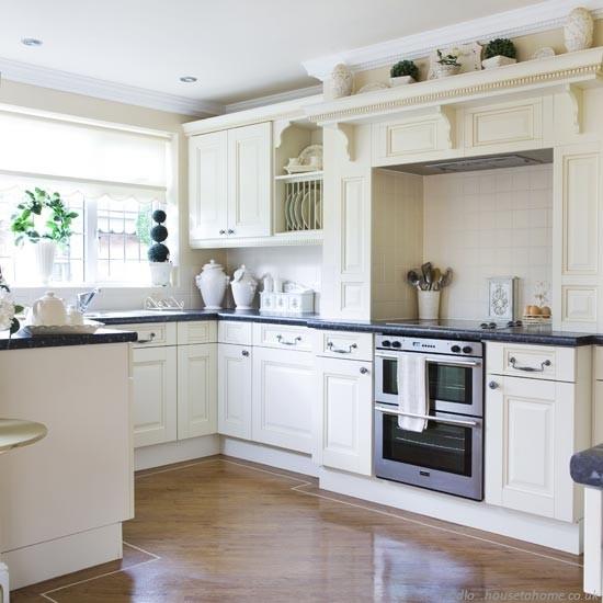 Kuchnia w stylu angielskim nowoczesne kuchnie projekty for Black n white kitchen ideas