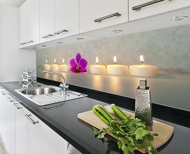 Panele szklane – modna dekoracja kuchni  nowoczesne