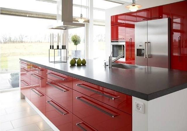 Czerwona kuchnia Rubi Meble