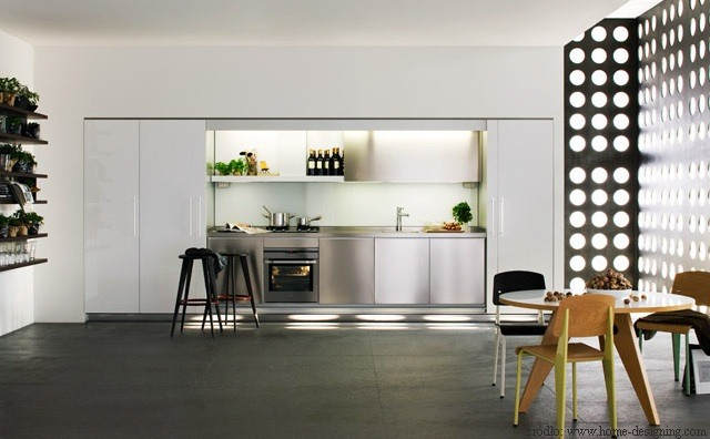 Wnęka kuchenna w salonie