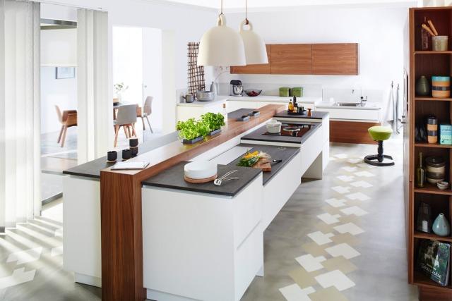 Kuchnia obs ugiwana smartfonem i inne rozwi zania od alno - Moderne kuche mit wohnzimmer ...