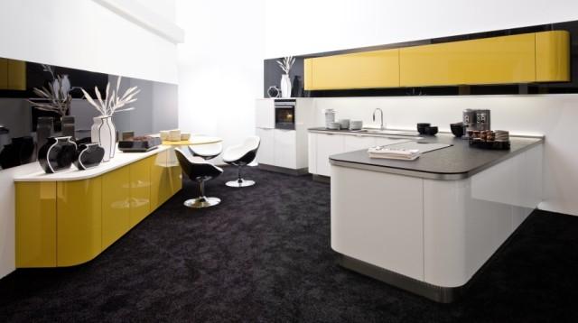 kolor w natarciu nowoczesne kuchnie z barwnymi. Black Bedroom Furniture Sets. Home Design Ideas