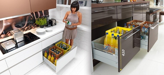 Kuchnia Nolte pojemne szuflady