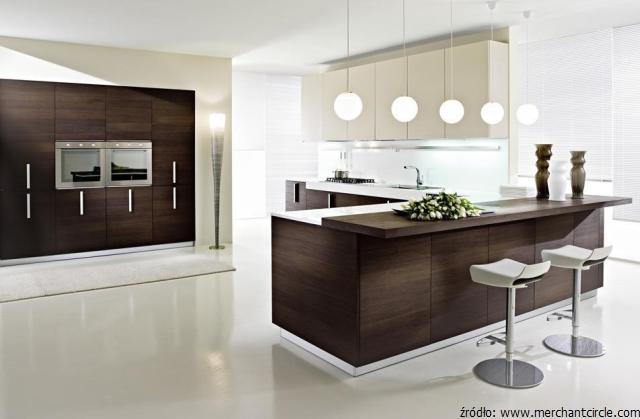 Meble kuchenne wenge  egzotyczny kolor w kuchni  kuchnieportal pl -> Nowoczesna Kuchnia Z Drewnianą Podlogą