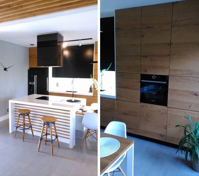 Nowoczesna kuchnia z dwustopniową wyspą – zobacz aranżację! - nowoczesne kuchnie - projekty ...