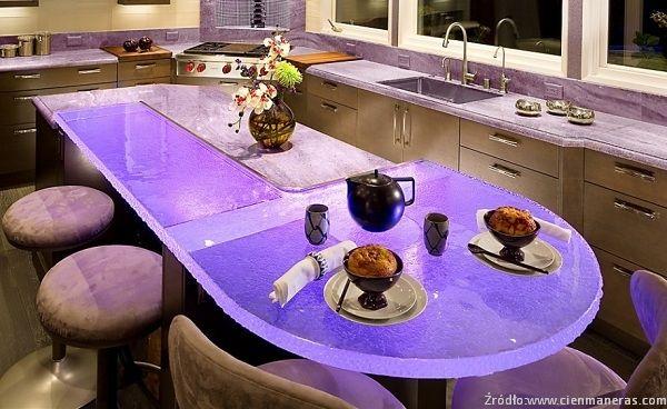 Blat ze szkła w kuchni