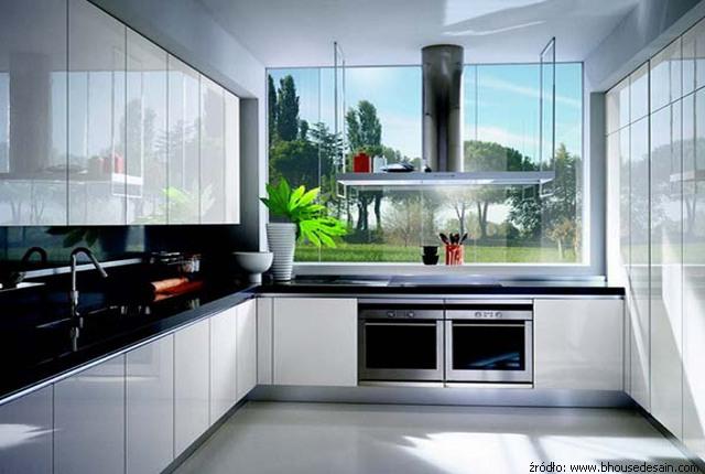 Meble kuchenne lakierowane szafki kuchnie lakierowane - Cocinas en forma de ele ...