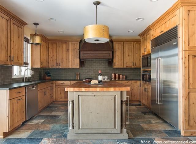 meble kuchenne sosnowe z drewna sosnowego nowoczesne