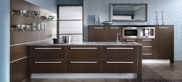 meble kuchenne wenge egzotyczny kolor w kuchni