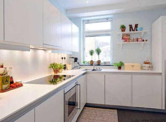 Kuchnia w bloku projekty kuchni w bloku aran acje for Suelo 3d blanco