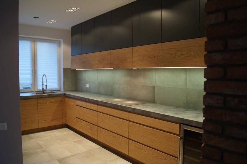 Modne i funkcjonalne materiały mebli kuchennych