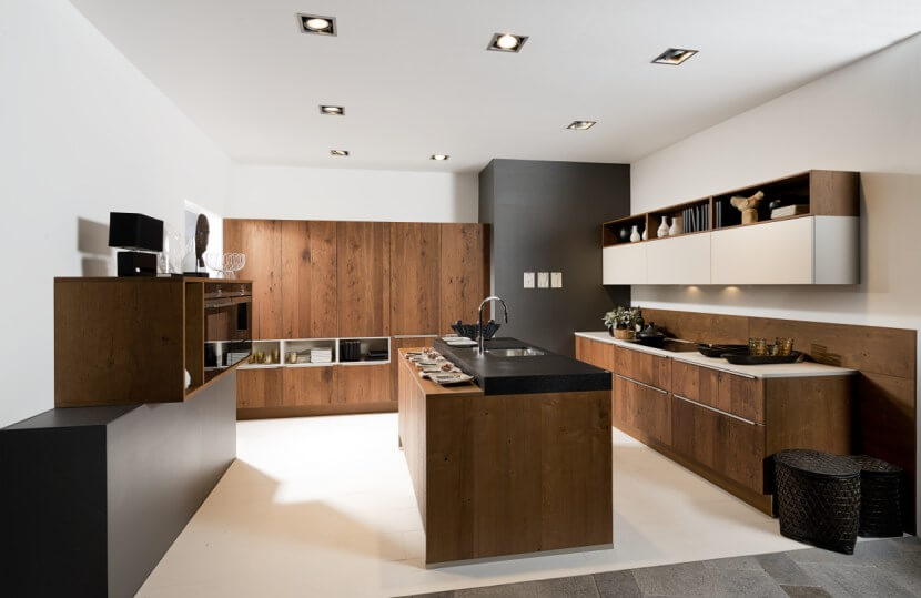 Materiały na fronty kuchenne - fornir