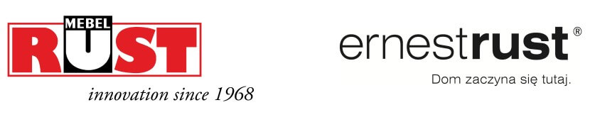 Mebel Rust - stary i nowy logotyp