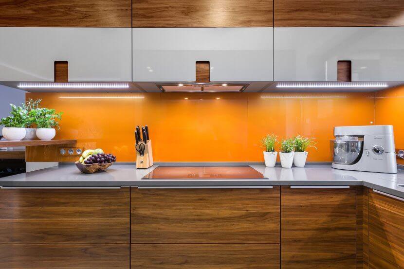 Kuchnie Pinio - pomarańczowa kuchnia