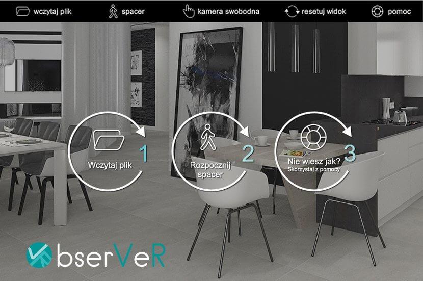 Wirtualny spacer po zaprojektowanym wnętrzu z CAD Projekt K&A!
