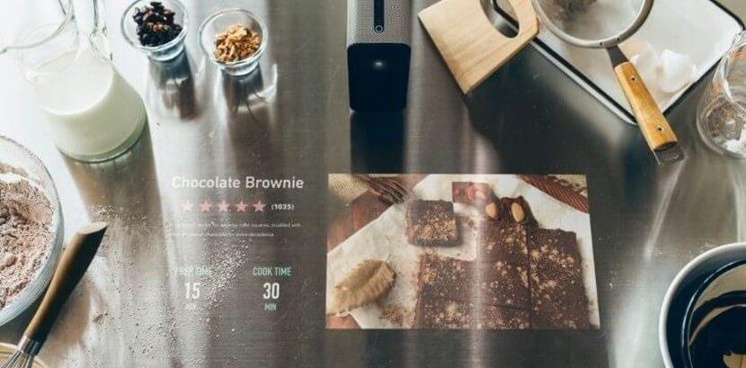 Projektor Sony Xperia w kuchni Nolte