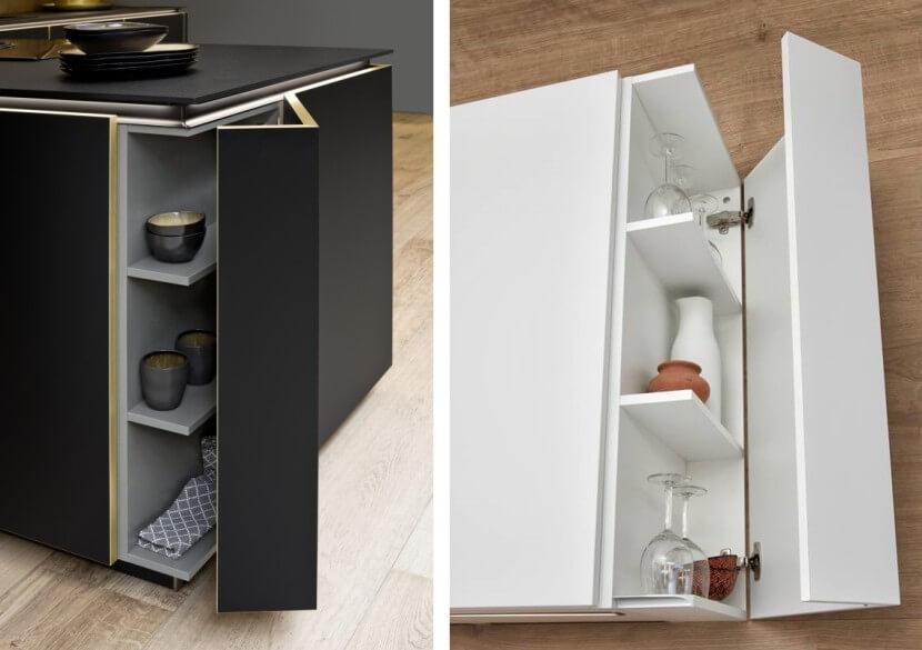 Przechowywanie w kuchni - szafki narożne