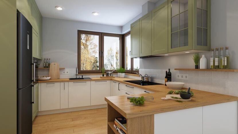 Projekt kuchni studia WOSMEBL