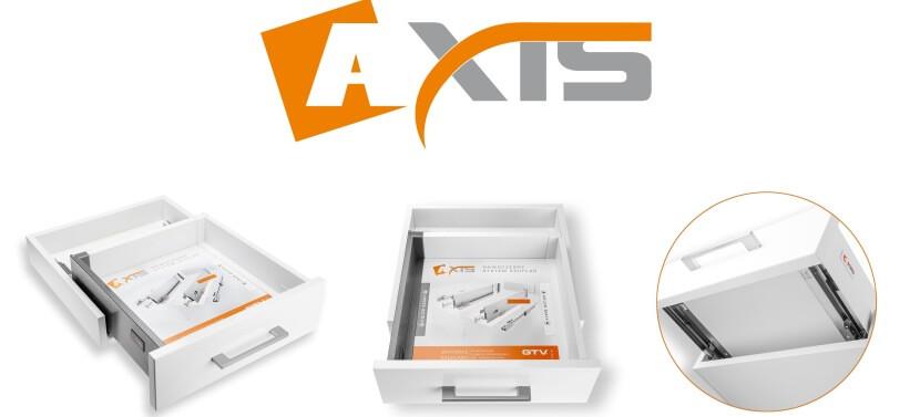 Pojemne i ultra cienkie szuflady AXIS od GTV