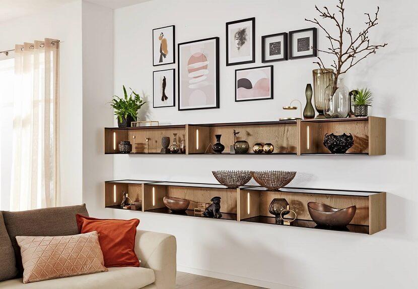 półki do salonu