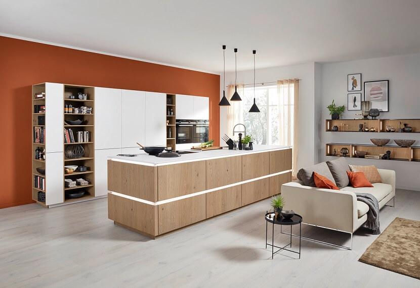 Sposób na piękną kuchnię połączoną z salonem