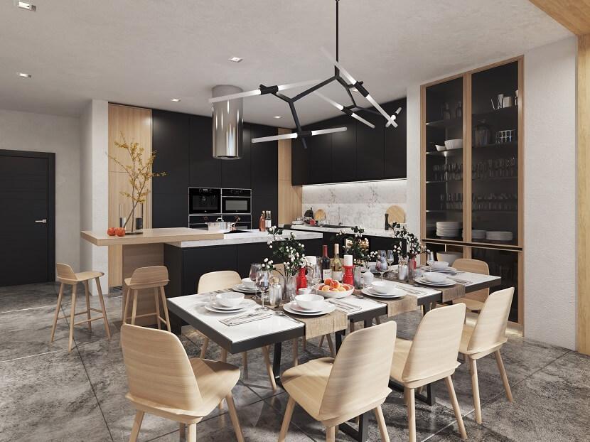 Nowoczesna kuchnia w czarnym kolorze – wyjątkowe wnętrze!