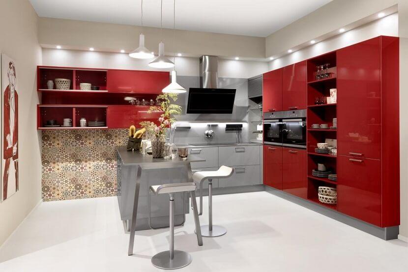 Czerwone meble kuchenne w różnych odsłonach