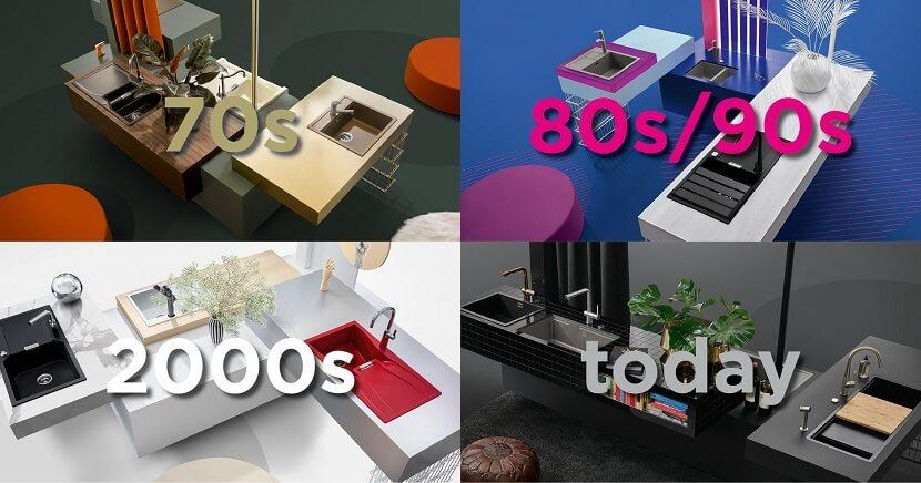 Od lat 70-tych do współczesności. Jak na przestrzeni lat zmieniał się design zlewozmywaków i aranżacje strefy zmywania w kuchni?