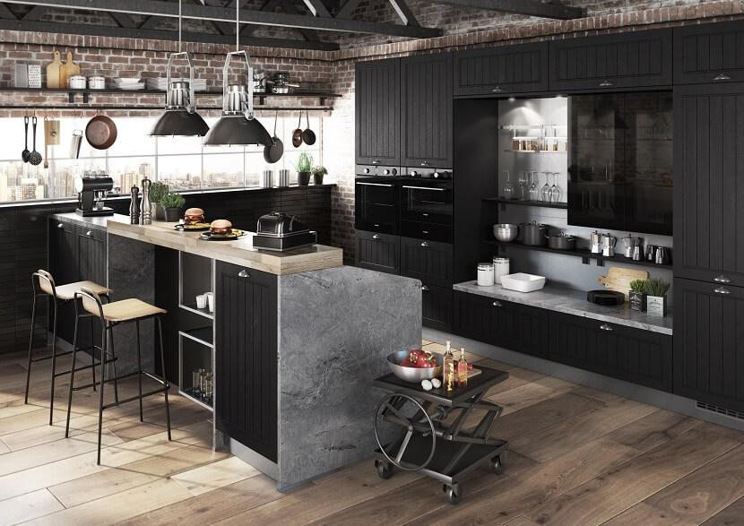 kuchnia czarny kolor