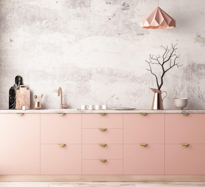 Różowy akcent kolorystyczny w kuchni. Nie tylko dla Pań!